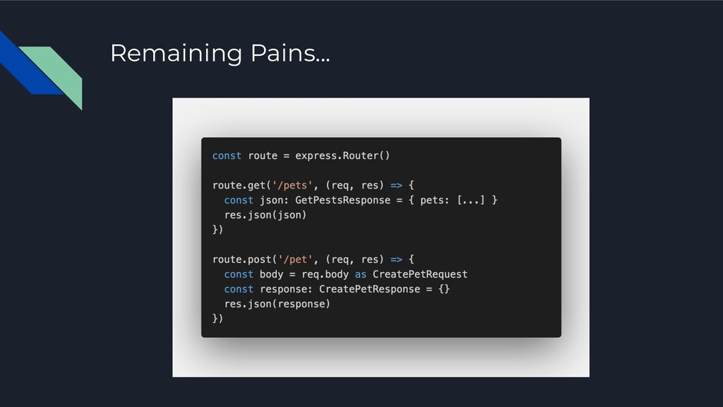 Remaining Pains...