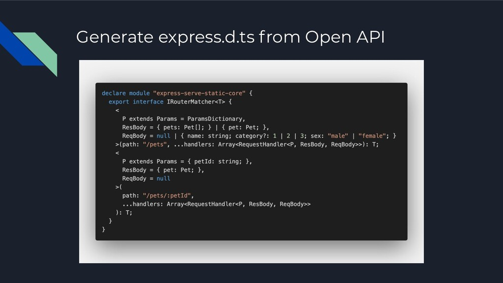 Generate express.d.ts from Open API