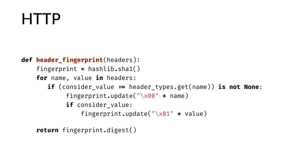 HTTP def header_fingerprint(headers): fingerpri...