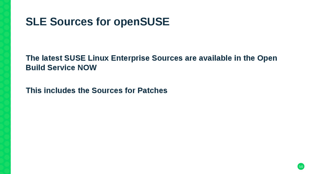 50 SLE Sources for openSUSE The latest SUSE Lin...