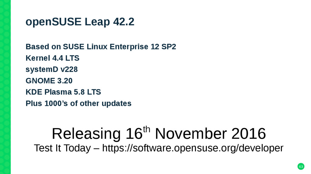 63 openSUSE Leap 42.2 Based on SUSE Linux Enter...