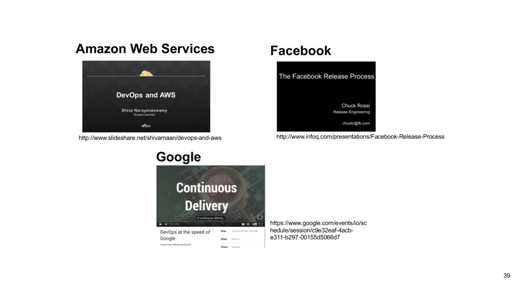 39 Amazon Web Services http://www.slideshare.ne...