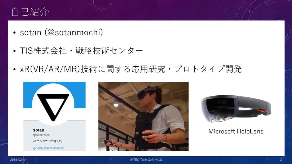 自己紹介 • sotan (@sotanmochi) • TIS株式会社・戦略技術センター •...
