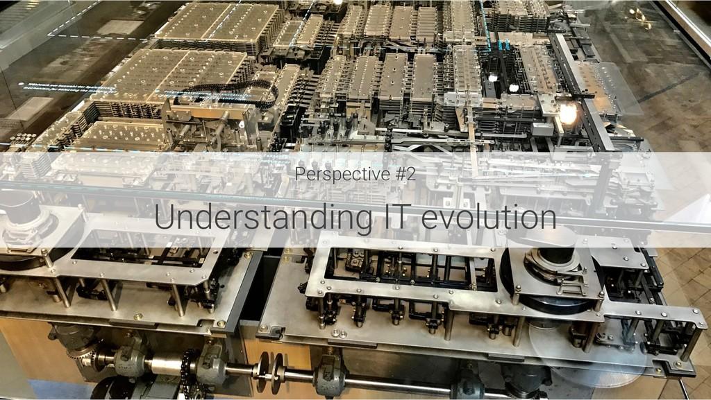 Perspective #2 Understanding IT evolution