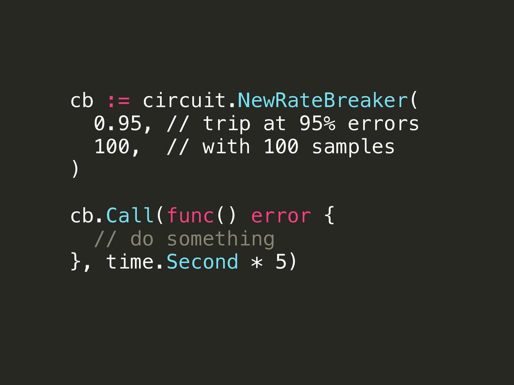 cb := circuit.NewRateBreaker( 0.95, // trip at ...