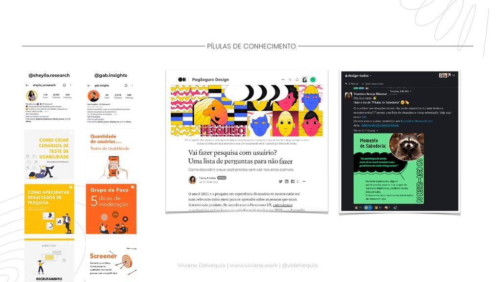 PÍLULAS DE CONHECIMENTO @sheylla.research @gab....