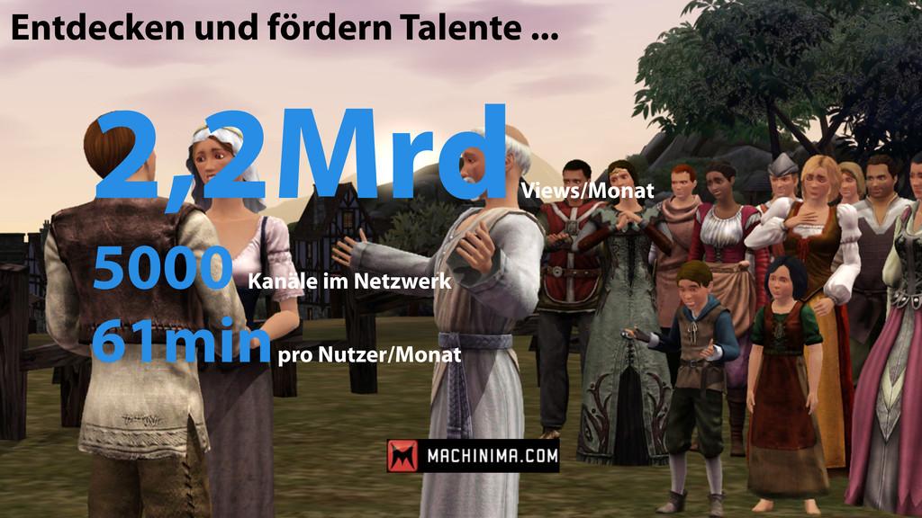 Entdecken und fördern Talente ... 2,2Mrd Views/...