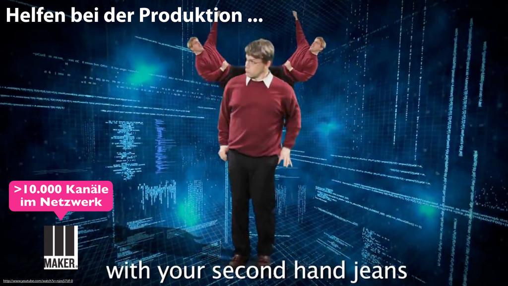 Helfen bei der Produktion ... http://www.youtub...