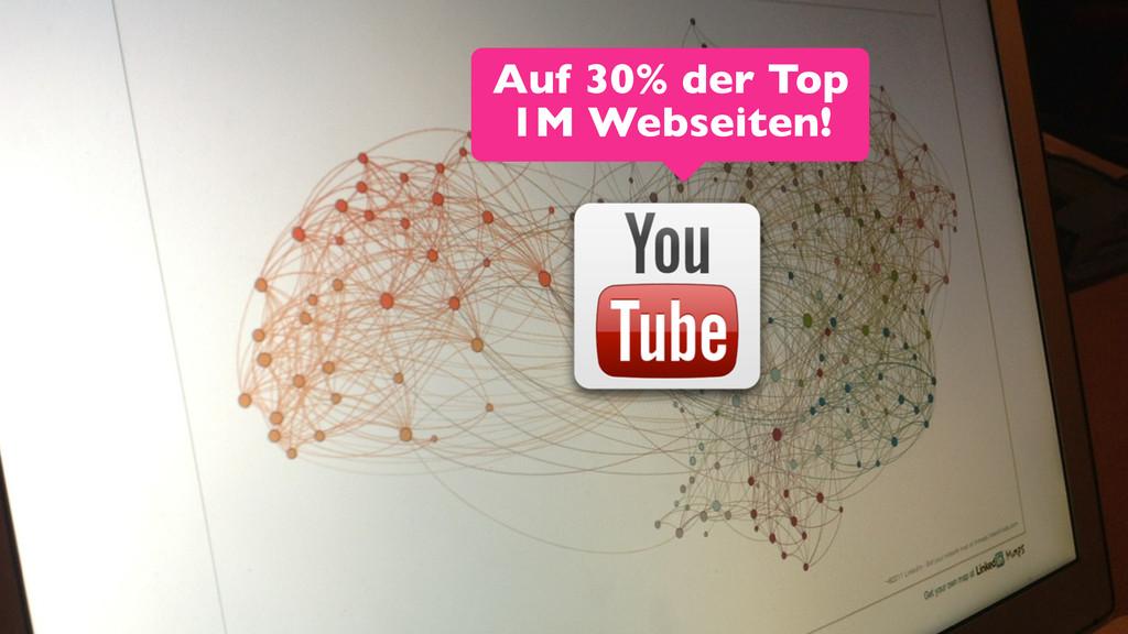 8 Auf 30% der Top 1M Webseiten!