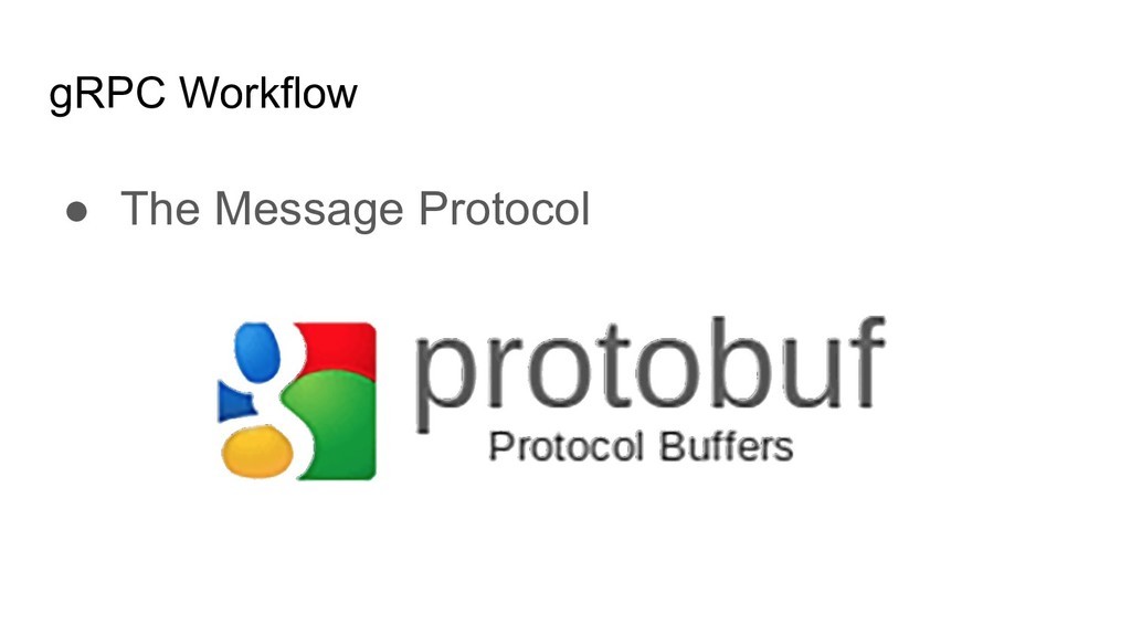 gRPC Workflow ● The Message Protocol