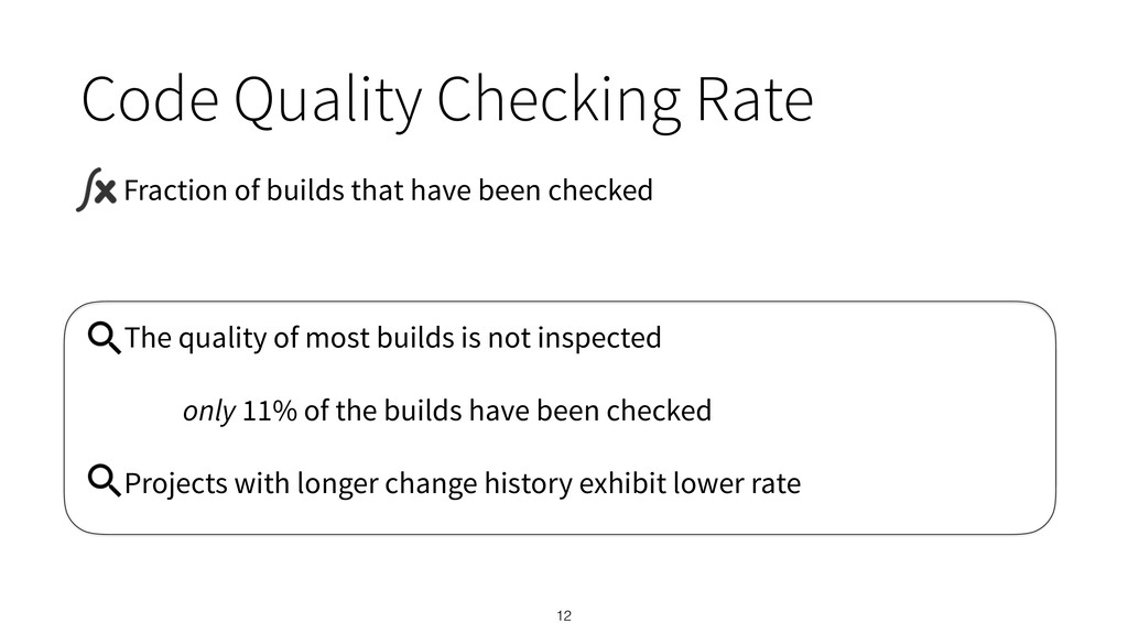 The quality of most builds is not inspected onl...
