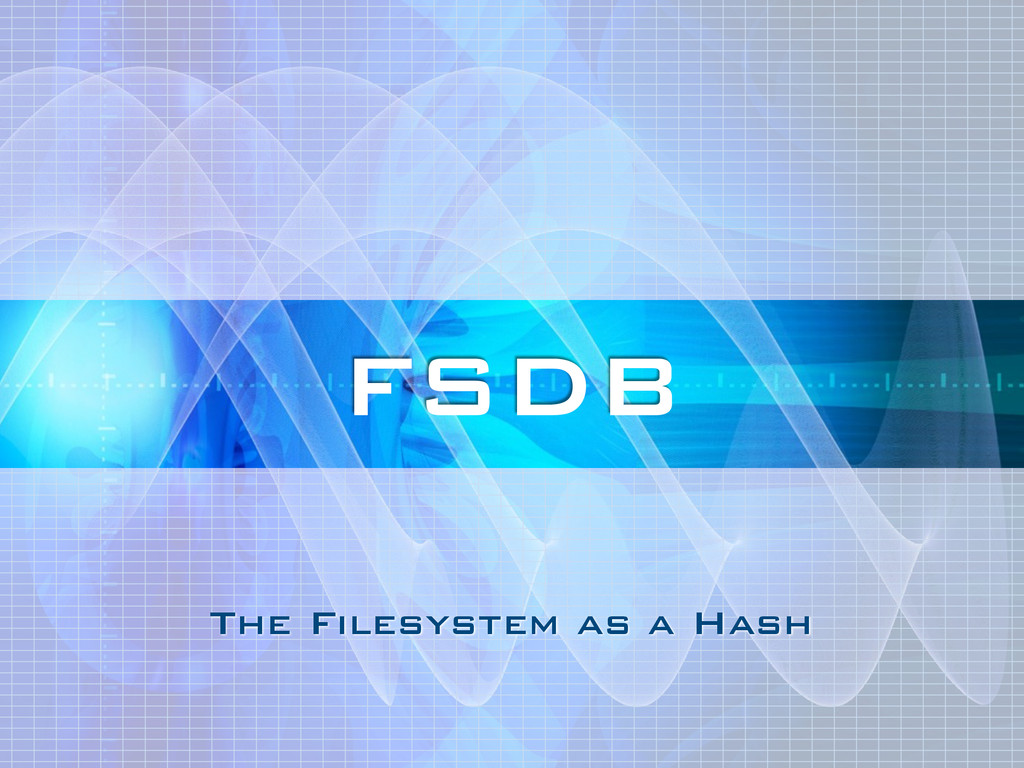 The Filesystem as a Hash FSDB
