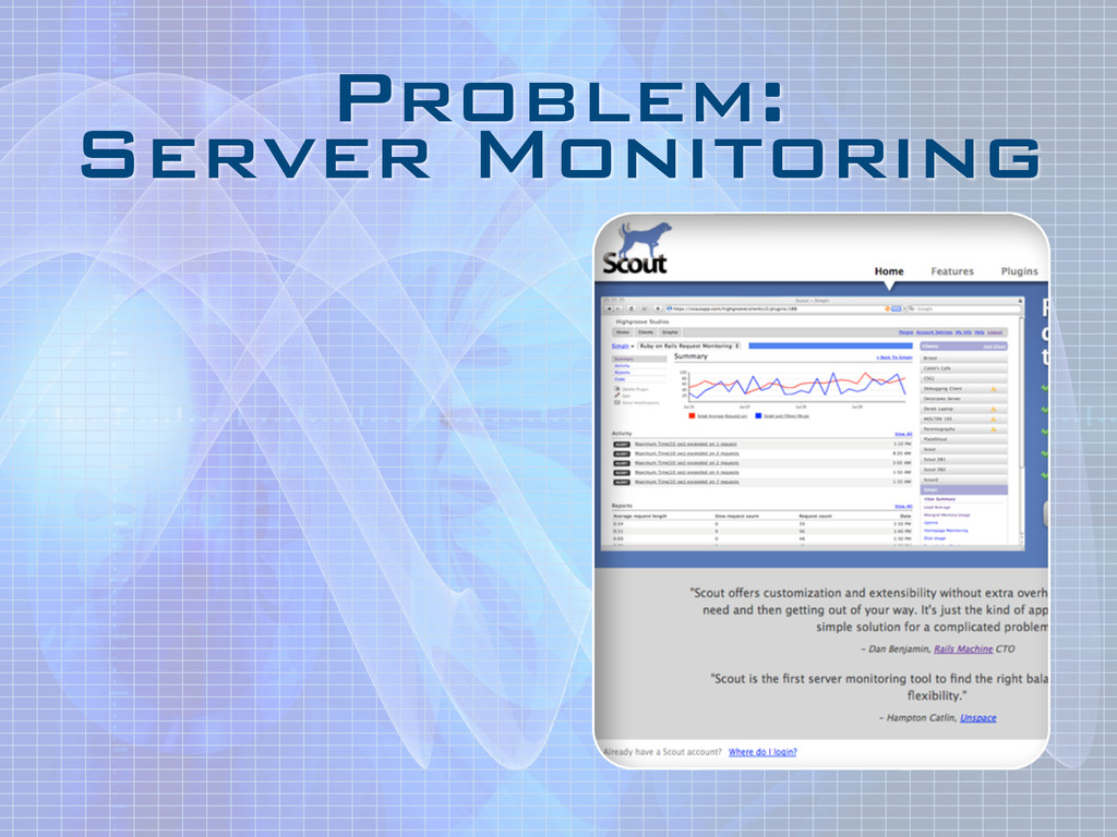 Problem: Server Monitoring