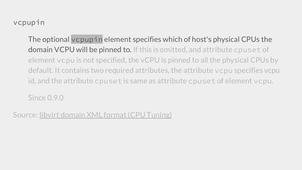 vcpupin The optional vcpupin element specifies ...