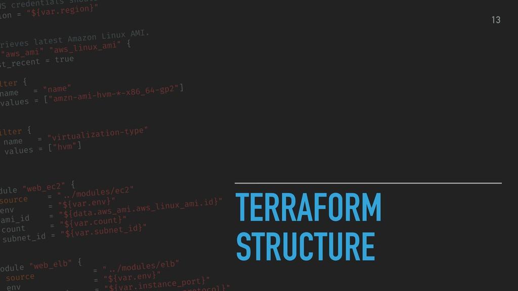 TERRAFORM STRUCTURE WS credentials should ion =...