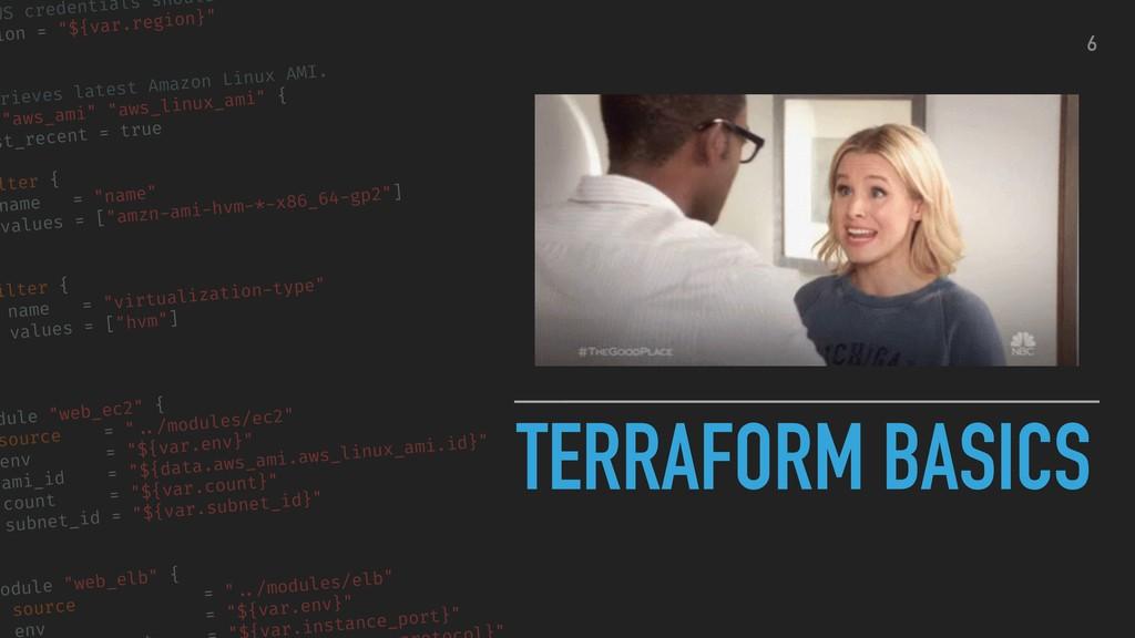 """TERRAFORM BASICS WS credentials should ion = """"$..."""