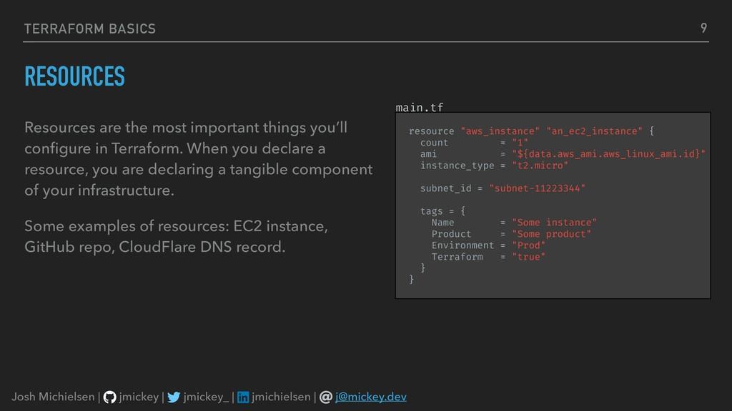 TERRAFORM BASICS RESOURCES Resources are the mo...