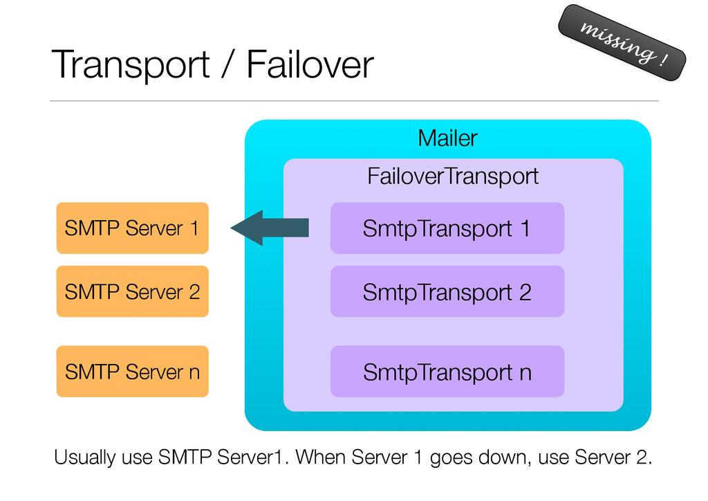 Mailer FailoverTransport Transport / Failover m...