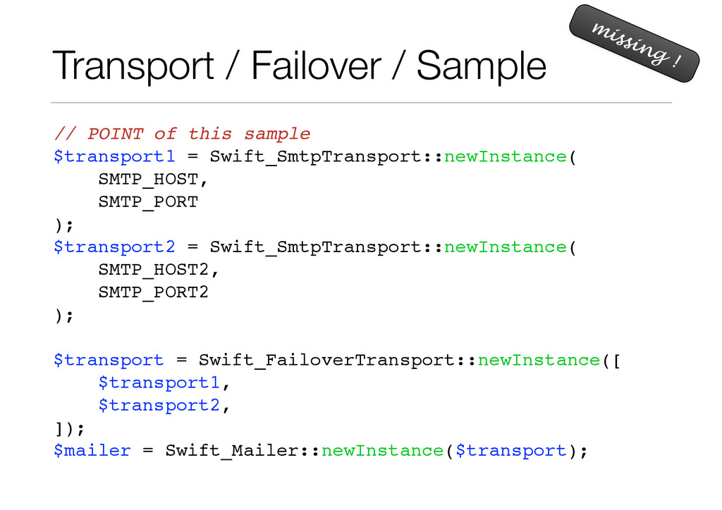 Transport / Failover / Sample // POINT of this ...