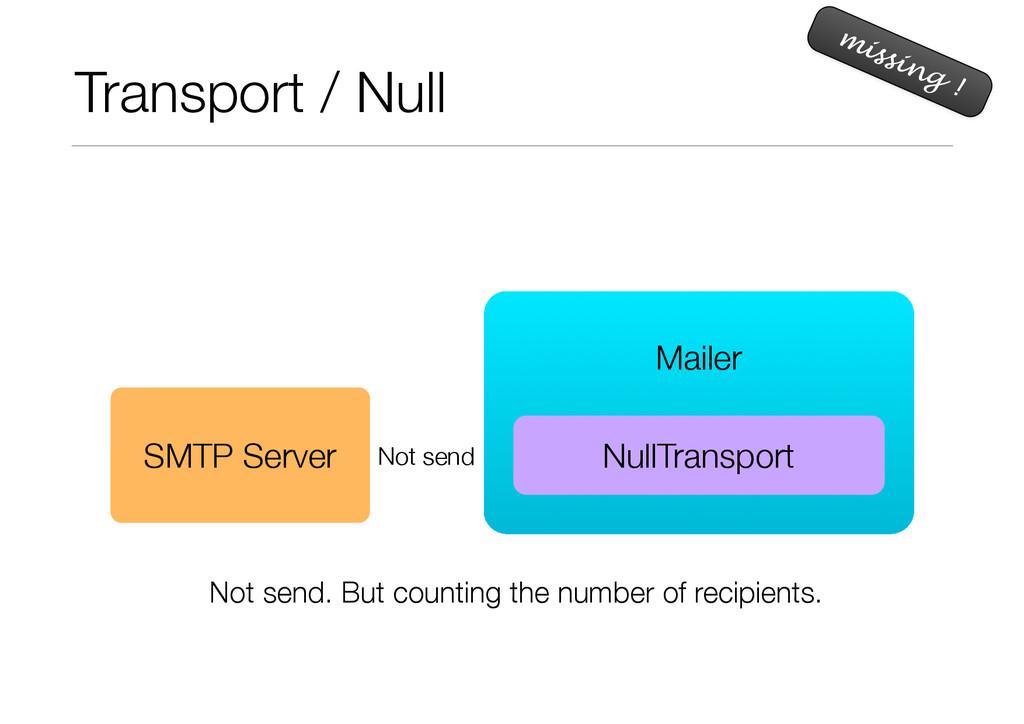 Transport / Null missing ! ! Mailer NullTranspo...