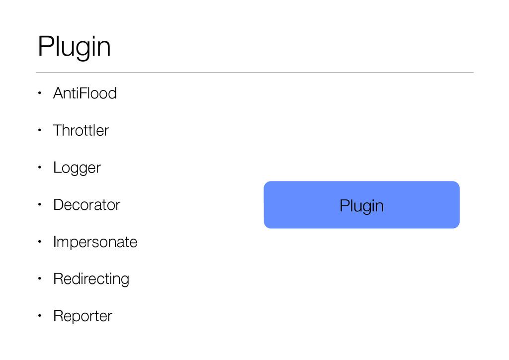 Plugin • AntiFlood • Throttler • Logger • Decor...