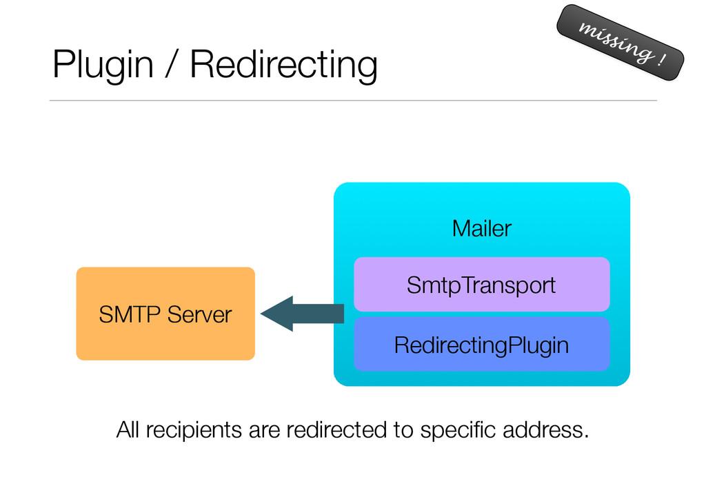 Plugin / Redirecting missing ! ! Mailer SmtpTra...