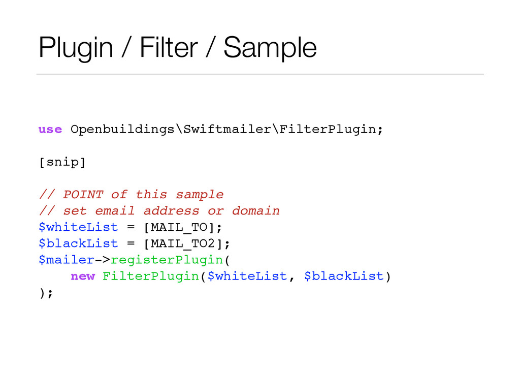 Plugin / Filter / Sample use Openbuildings\Swif...
