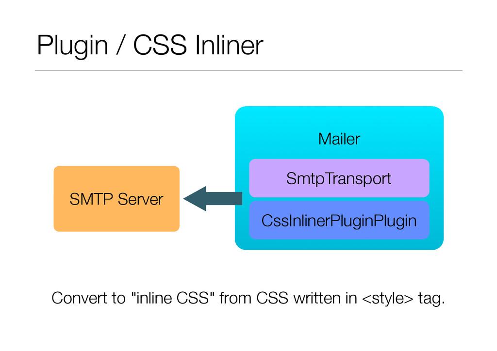 Plugin / CSS Inliner ! Mailer SmtpTransport SMT...