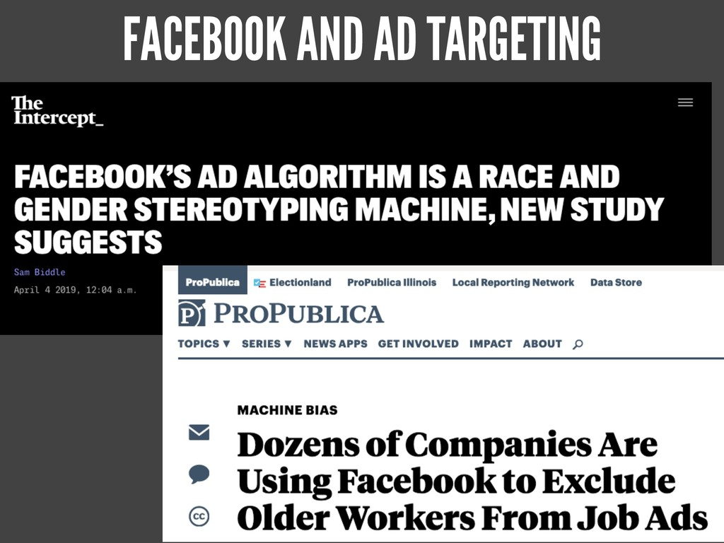 FACEBOOK AND AD TARGETING