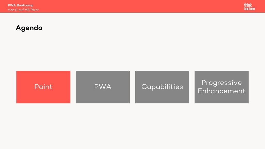 Paint PWA Capabilities Progressive Enhancement ...