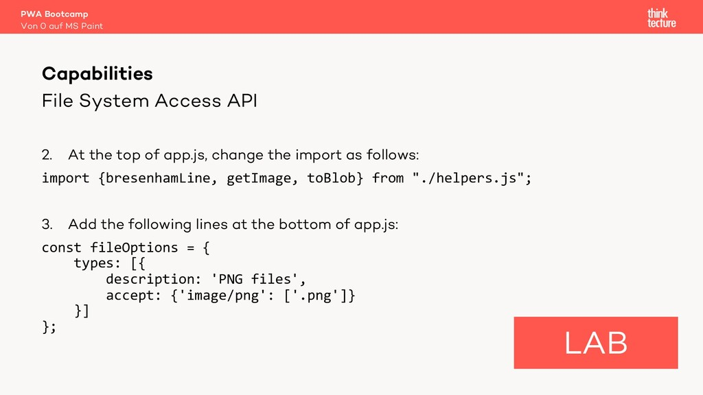 File System Access API 2. At the top of app.js,...