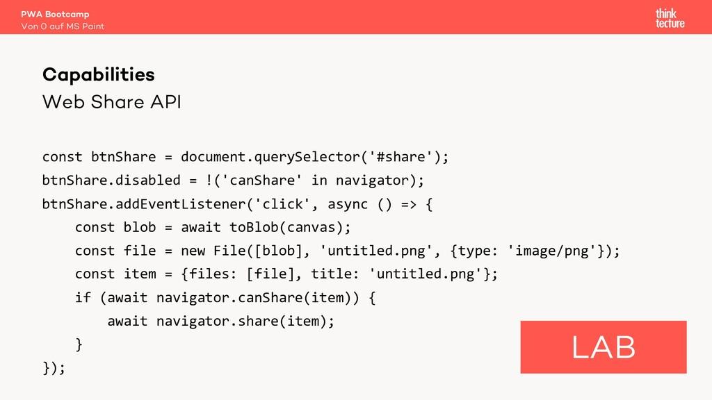 Web Share API const btnShare = document.querySe...