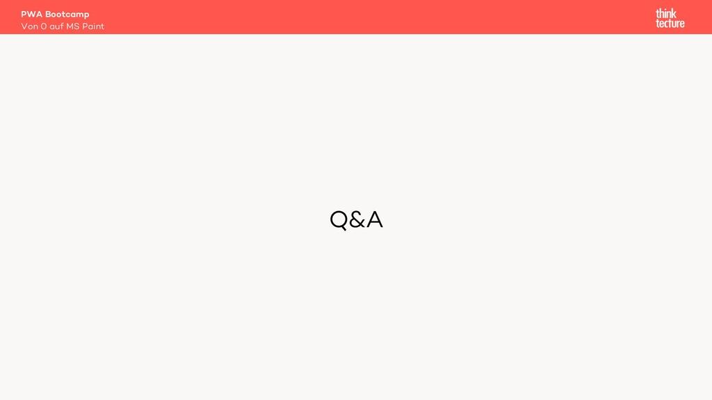 Q&A PWA Bootcamp Von 0 auf MS Paint
