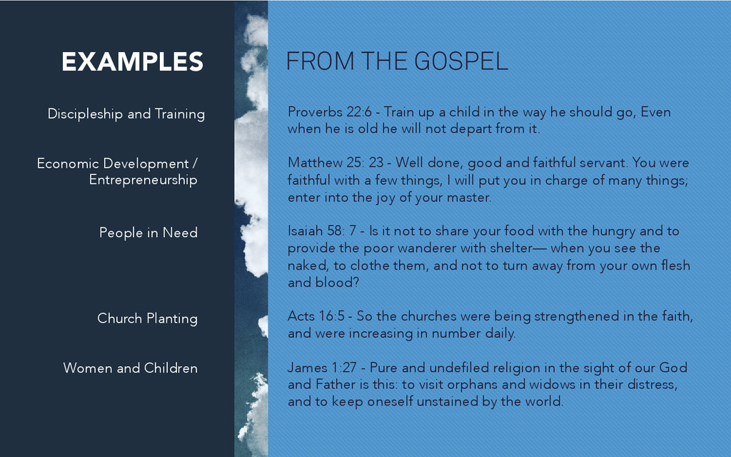 FROM THE GOSPEL Discipleship and Training Prove...