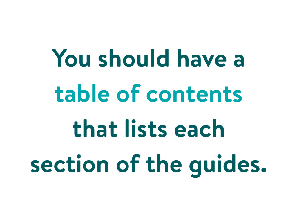 You should have a table of contents that lists ...