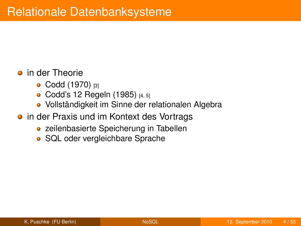 Relationale Datenbanksysteme in der Theorie Cod...