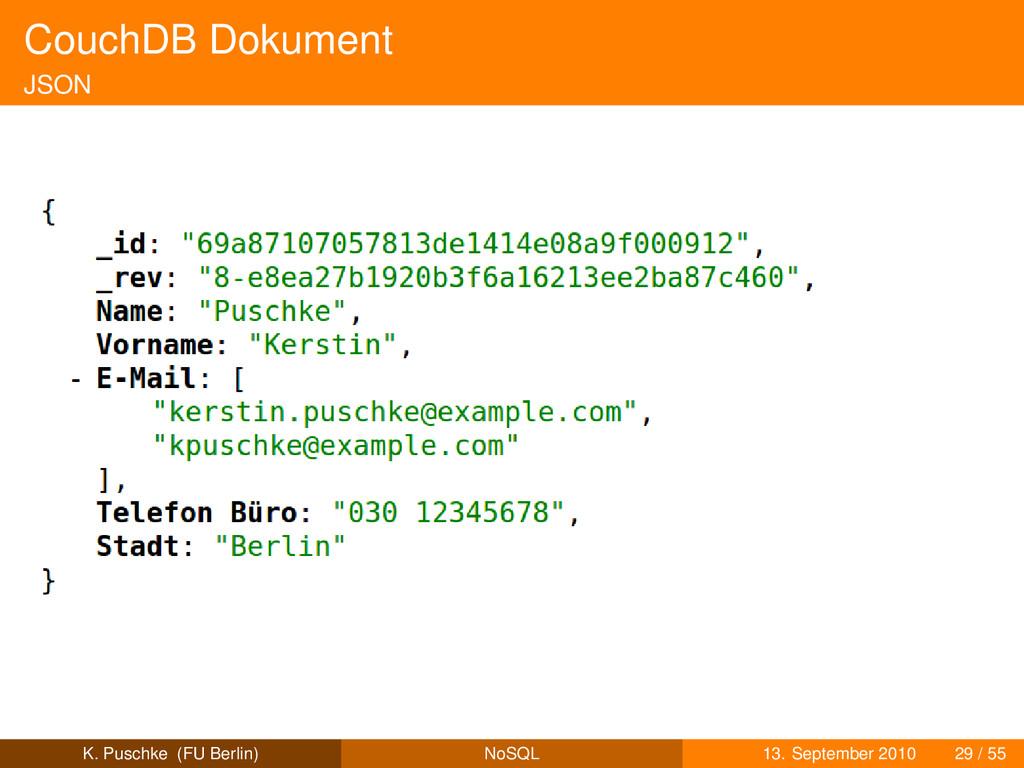 CouchDB Dokument JSON K. Puschke (FU Berlin) No...