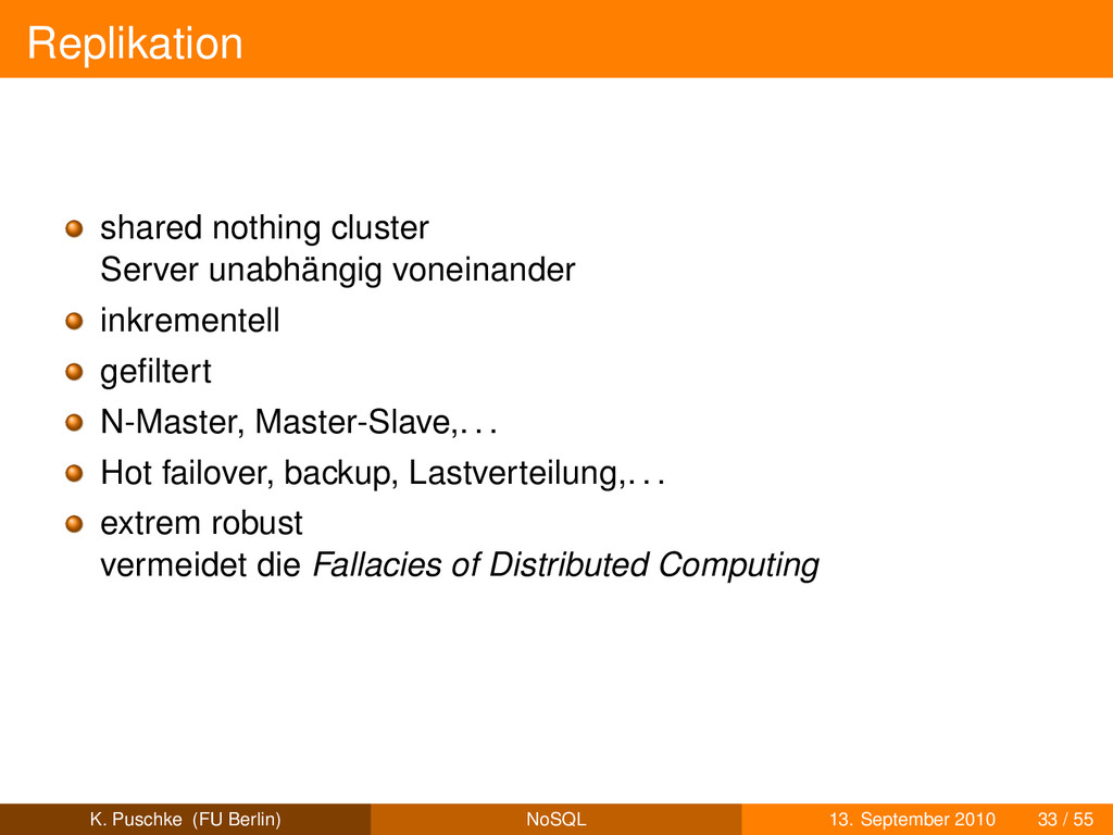 Replikation shared nothing cluster Server unabh...