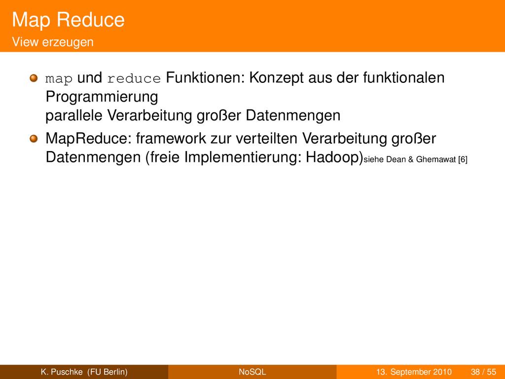 Map Reduce View erzeugen map und reduce Funktio...
