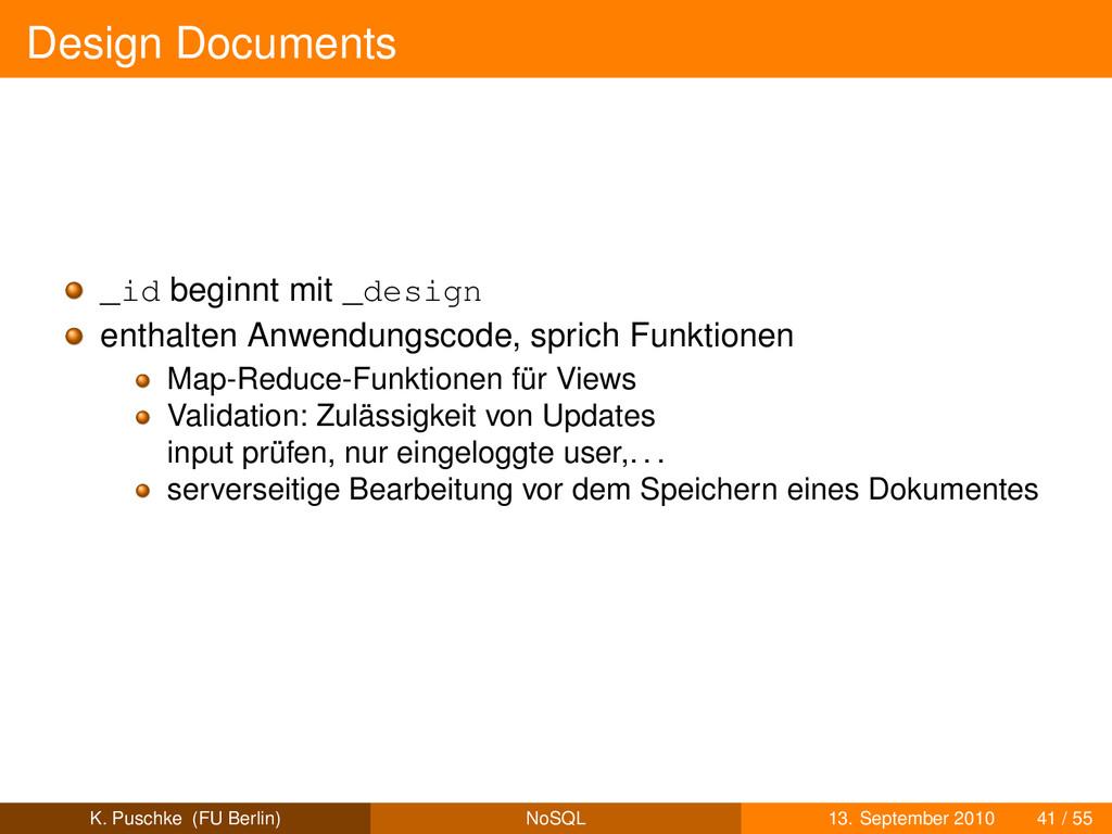 Design Documents _id beginnt mit _design enthal...