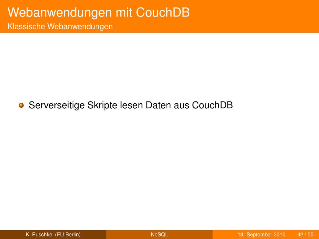 Webanwendungen mit CouchDB Klassische Webanwend...