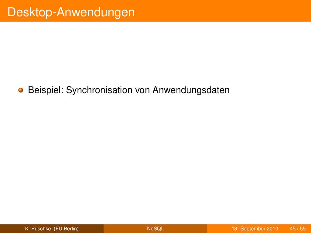 Desktop-Anwendungen Beispiel: Synchronisation v...