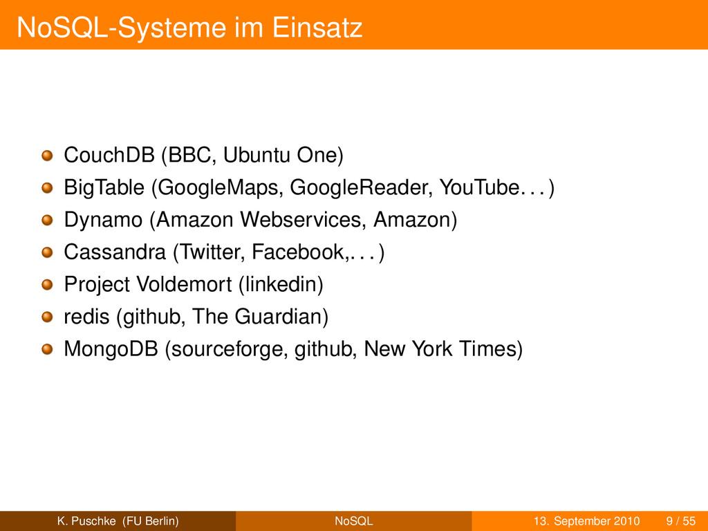 NoSQL-Systeme im Einsatz CouchDB (BBC, Ubuntu O...