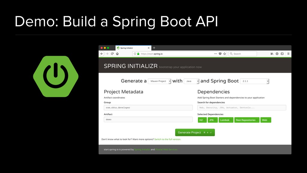 Demo: Build a Spring Boot API
