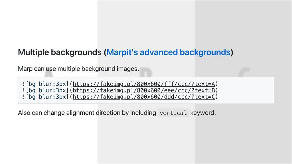 Multiple backgrounds (Marpit's advanced backgro...