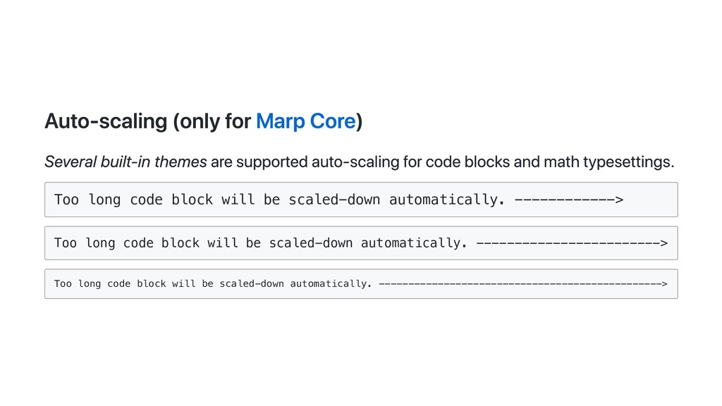 Auto-scaling (only for Marp Core) Several built...