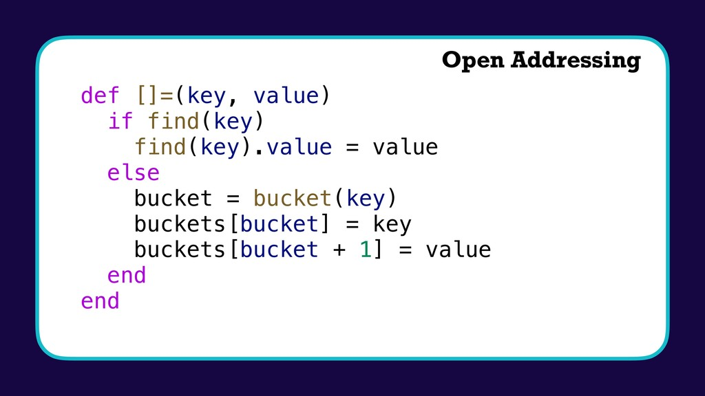 def []=(key, value) if find(key) find(key).valu...