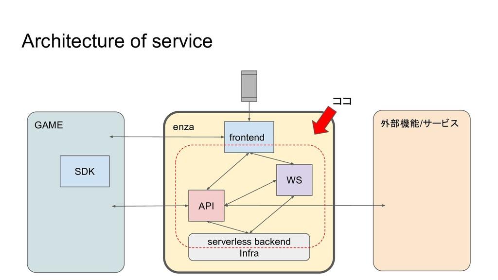 enza Architecture of service frontend API WS se...