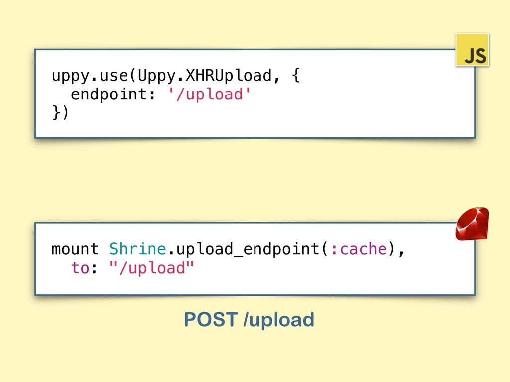 """mount Shrine.upload_endpoint(:cache), to: """"/upl..."""