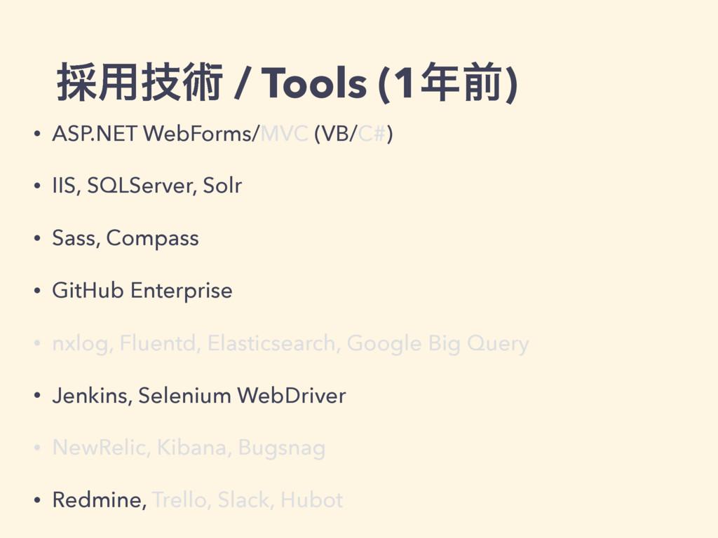 ࠾༻ٕज़ / Tools (1લ) • ASP.NET WebForms/MVC (VB/C...